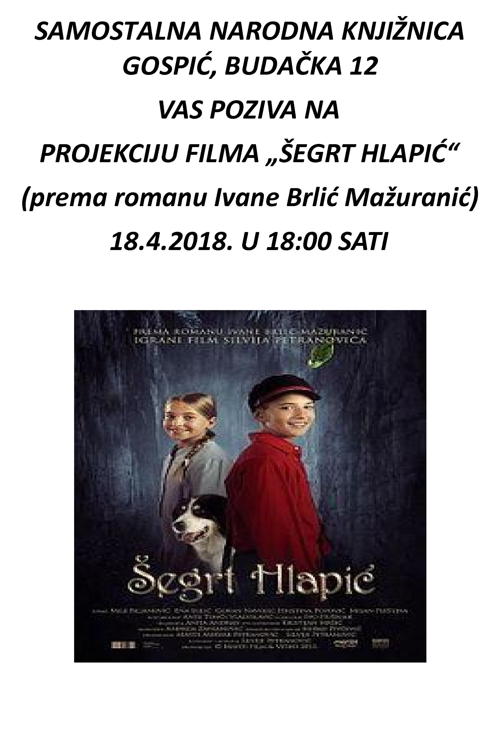 Proekcija Filma Šegrt Hlapić