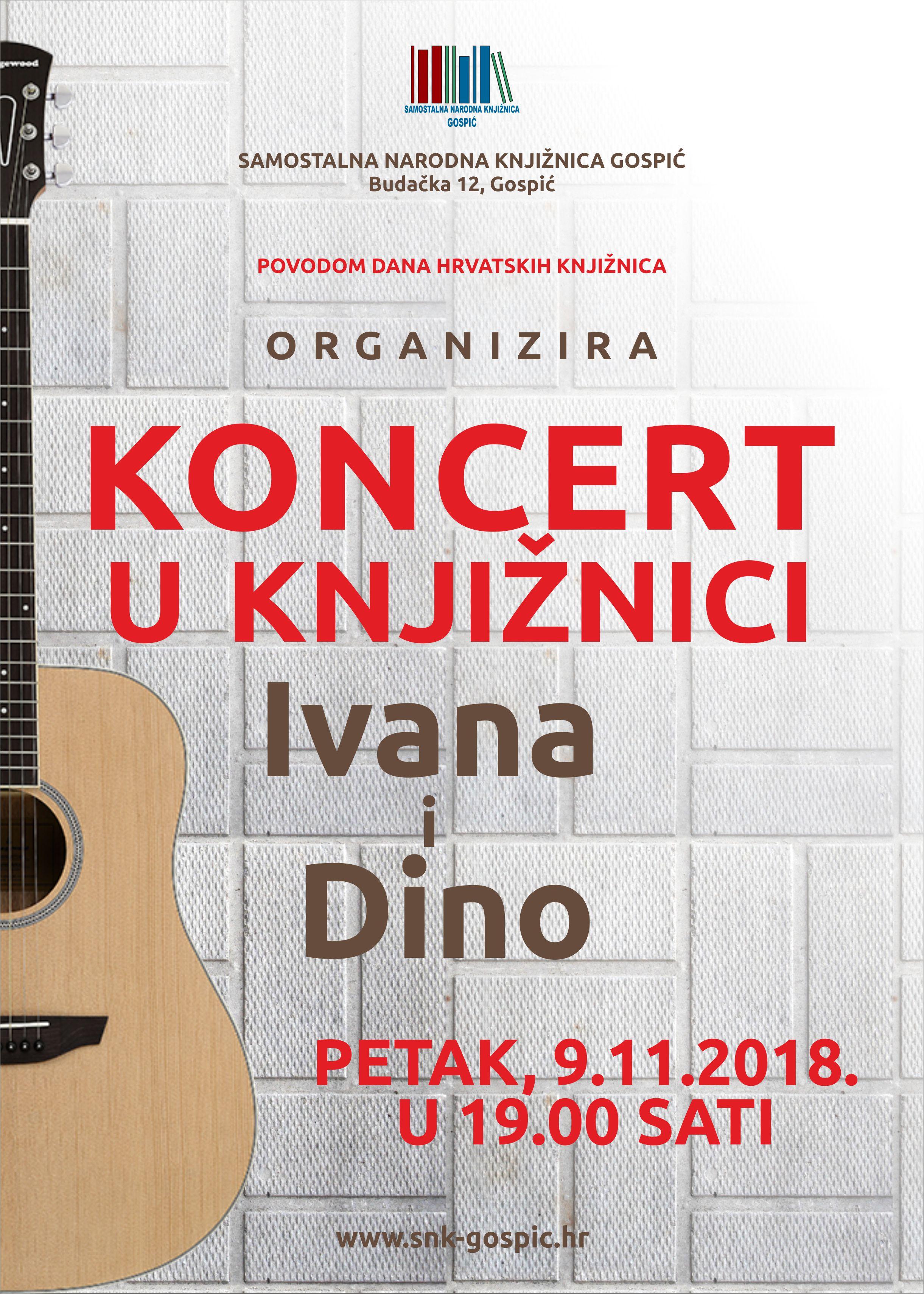 """Koncert u Knjižnoici """" Ivana i Dino"""