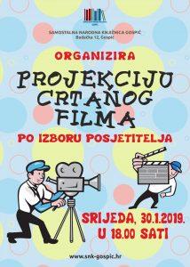 SNK organizira projeciju crtanog filma po izboru posjetitelja