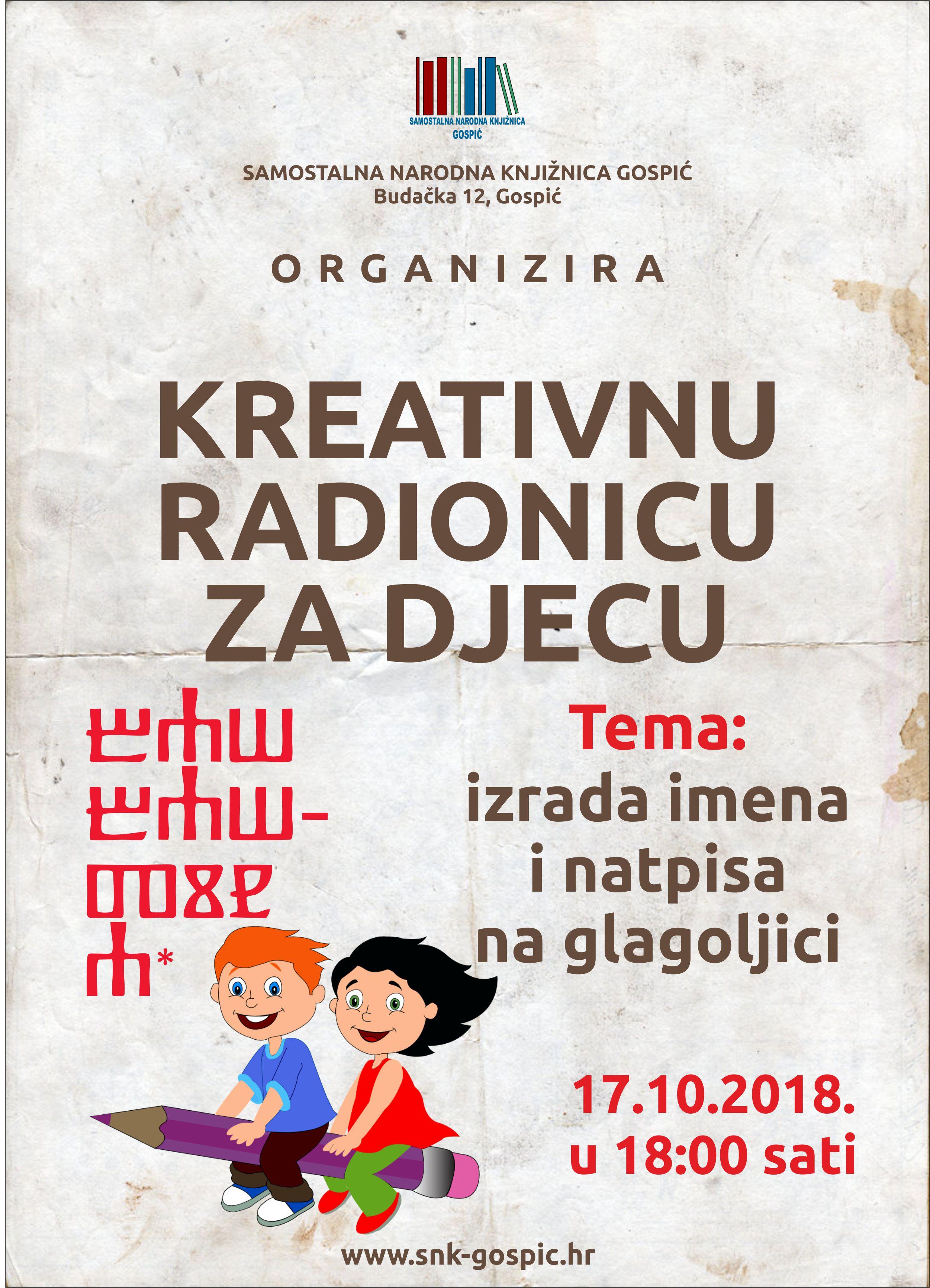 GLAGOLJICA – Kreativna radionica