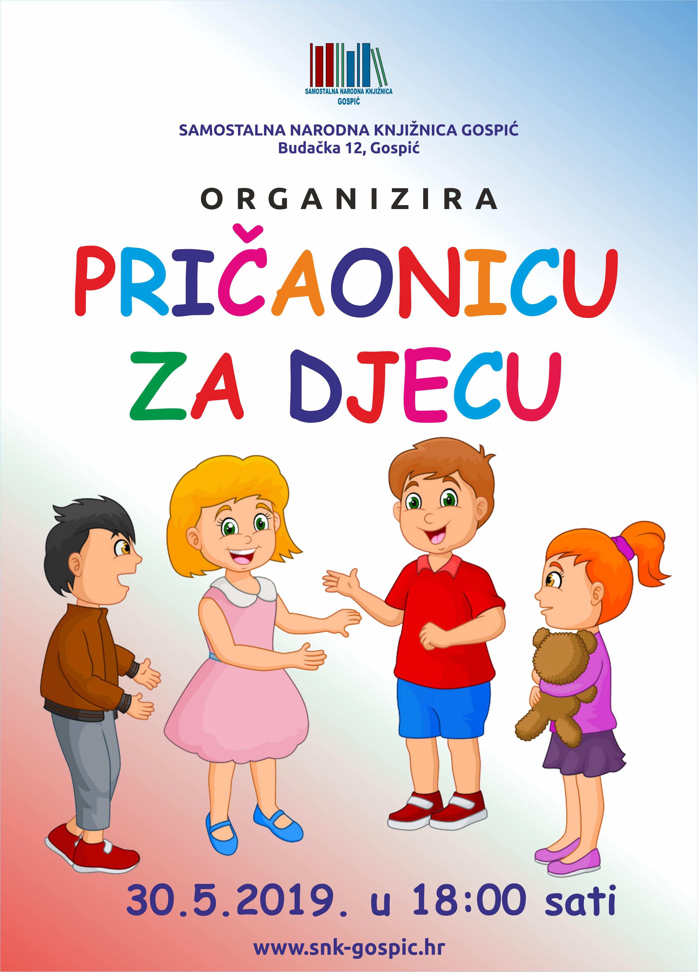 Pričaonica za djecu 30.05.2019.