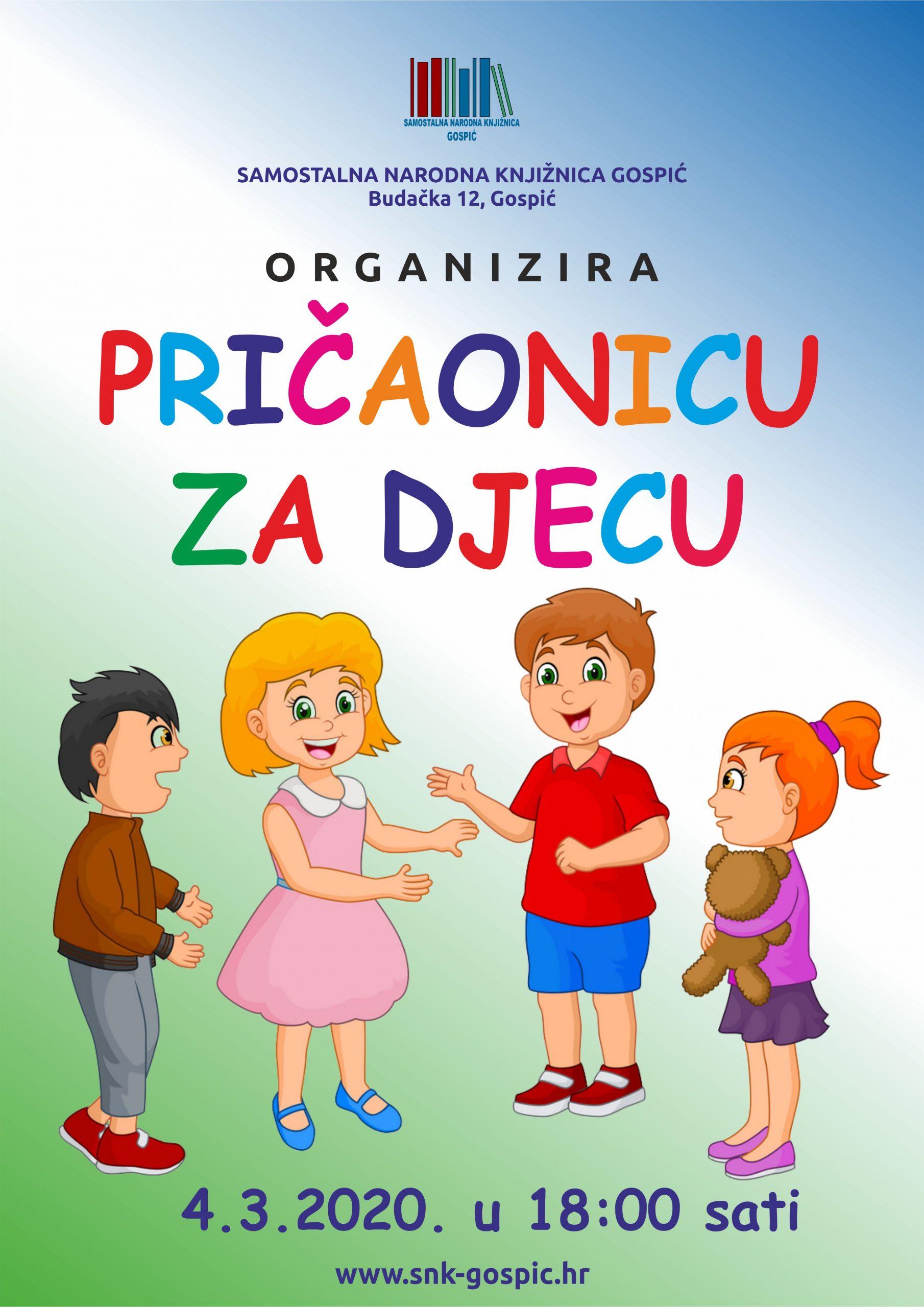 PRIČAONICA ZA DJECU – 04.03.2020.